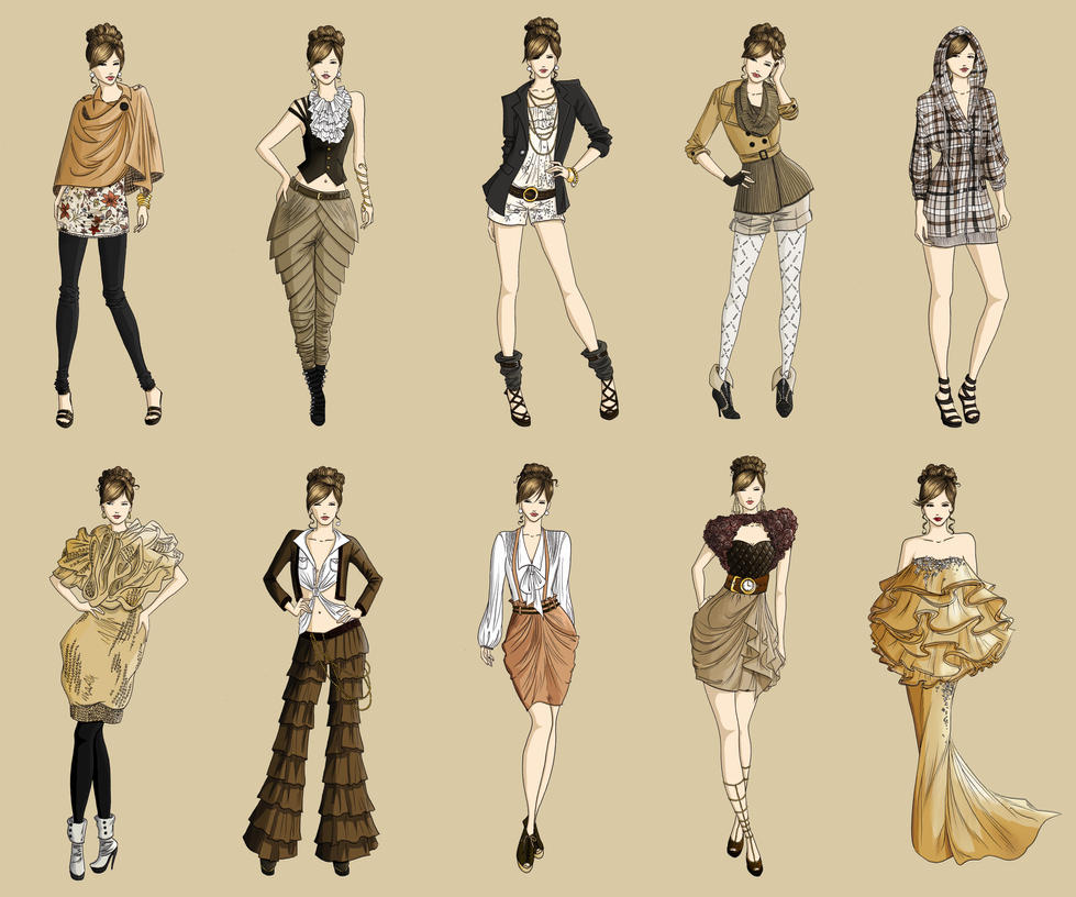 Autumn Fashion Illustration Fashion Collection Autumn 2011