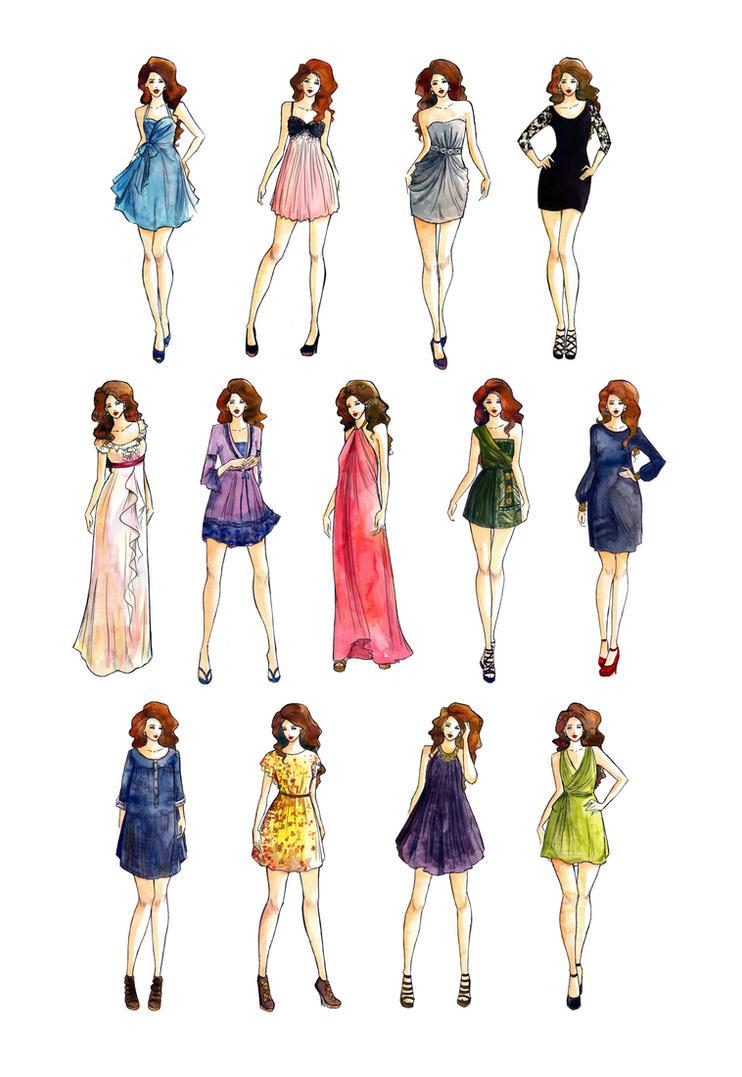 Dress Styles Fashion Illustration By Lousasa On Deviantart