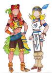 Fashion Design Aika and Fina in Ixa'Taka by ForsakenWanderer