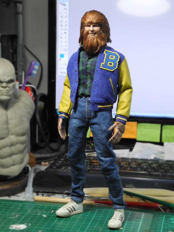 1/6 scale Teen Wolf haired test by CheungKinMen
