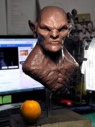 1:2 scale orc-ish Bust WIP