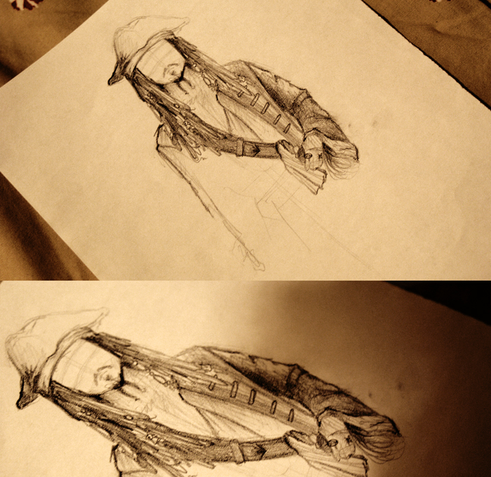 Jack Sparrow sketch by oliviakutxi