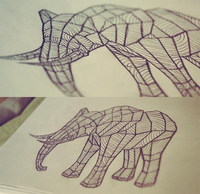 Elephant by oliviakutxi