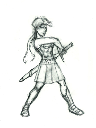 Warrior Girl Copy by Davonology