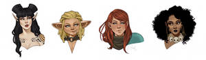 Rat Queens Portraits