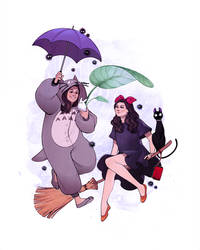 Ghibli Girls by ElizabethBeals