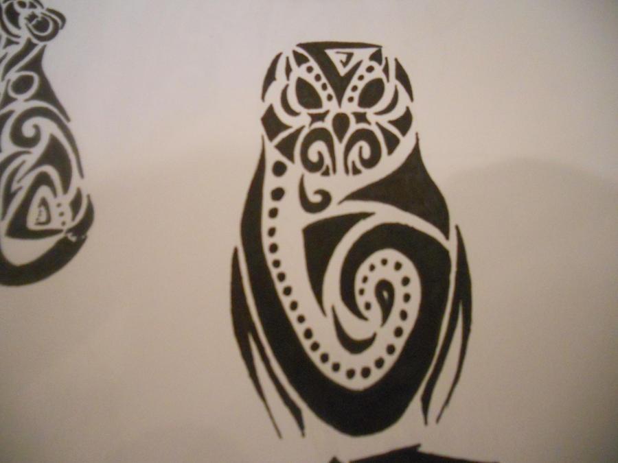 e1ebedc6f Tribal barn owl tattoo - photo#1