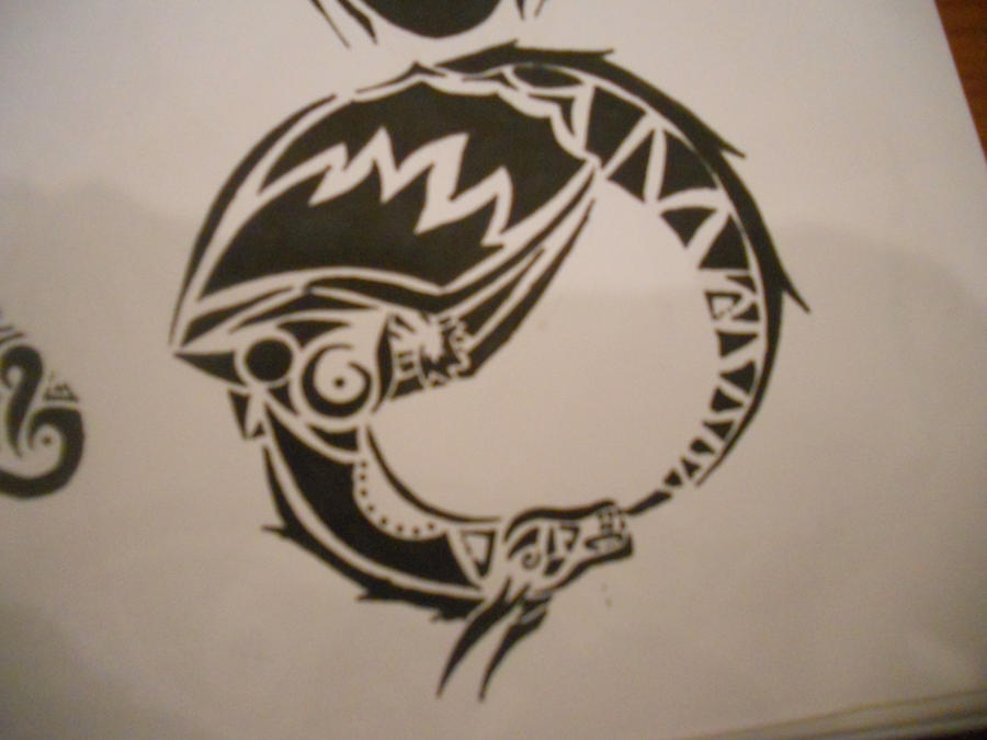 tribal ouroboros tattoo by mikaylamettler on deviantart. Black Bedroom Furniture Sets. Home Design Ideas