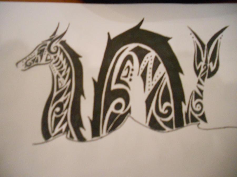 tribal sea serpent tattoo by mikaylamettler on deviantart
