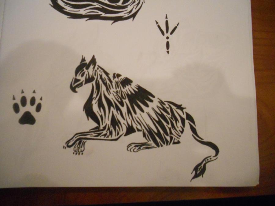 Tribal Griffin by mikaylamettler