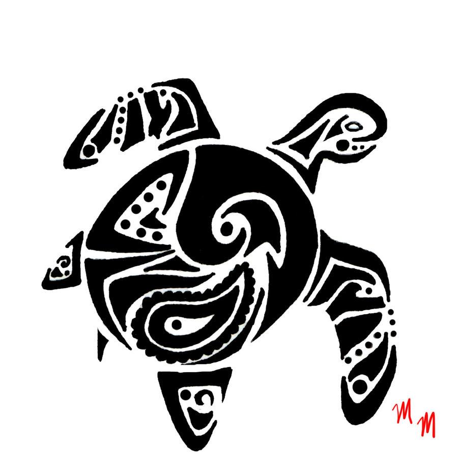 Tribal Turtle Drawings Tribal Sea Turtle 2 (c...