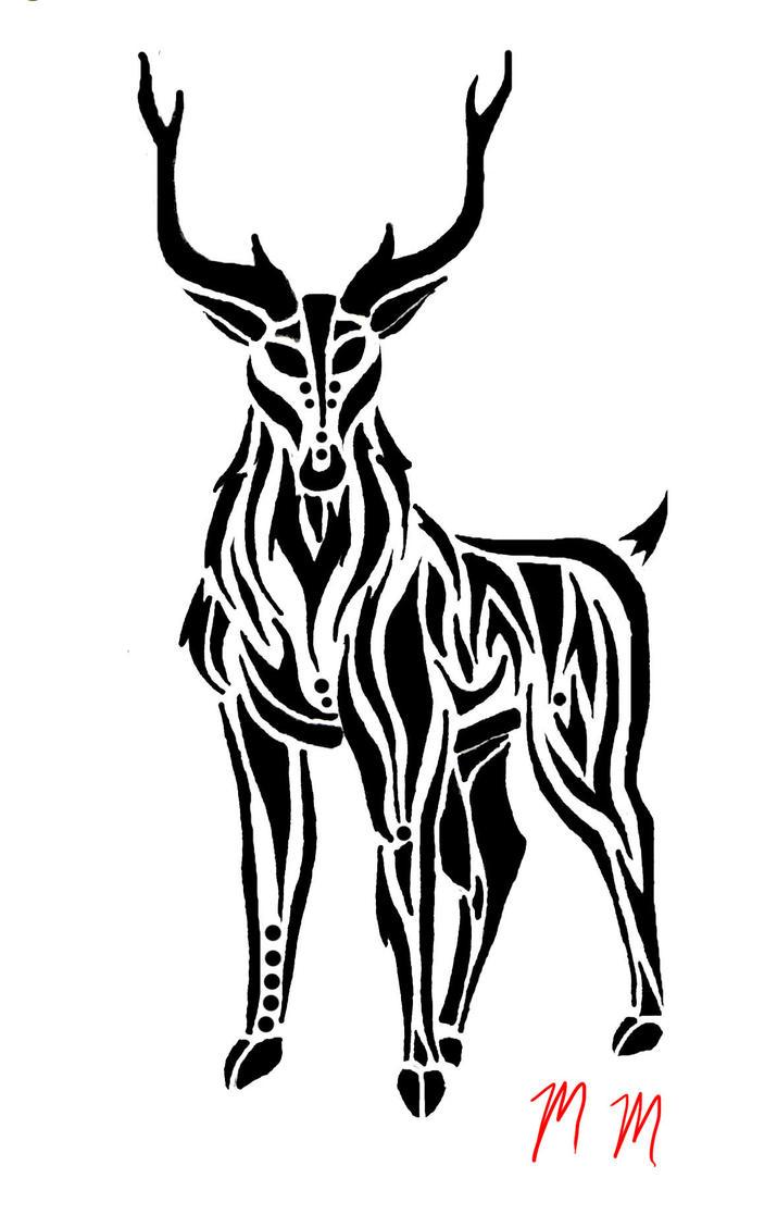 tribal deer by mikaylamettler on deviantart. Black Bedroom Furniture Sets. Home Design Ideas