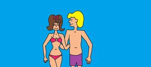 Schroeder and Sammy at the Beach