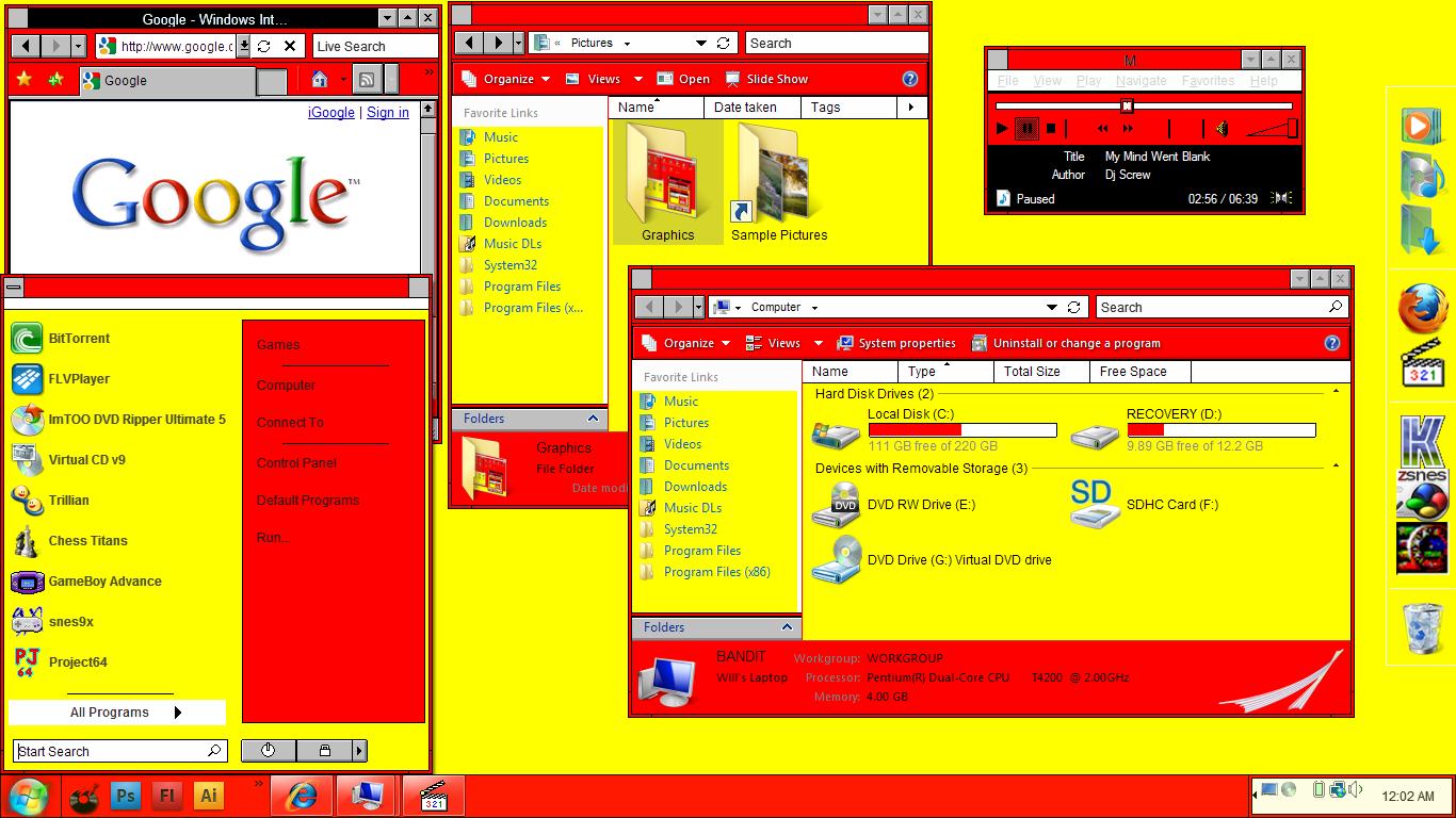 Windows Hot Dog Stand Theme