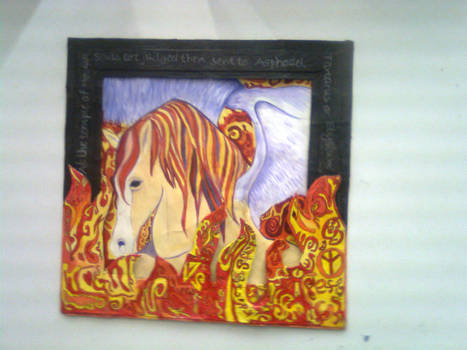 The fire horse. (Painting)