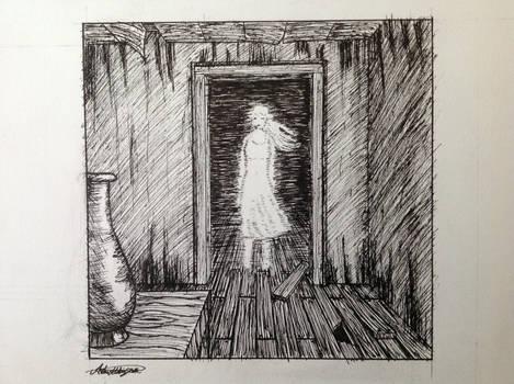 Ghost (inkober drawing)