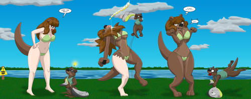 Beware Masked Otters - Pt 2 by RunningToaster