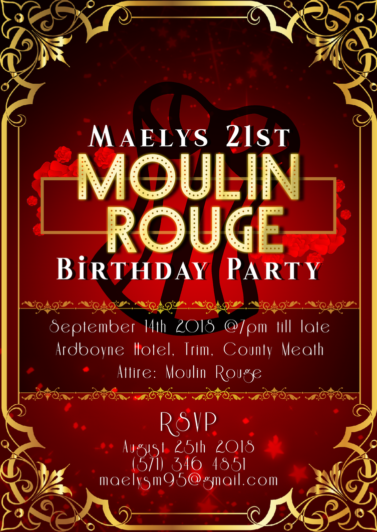 Moulin Rouge Invitation by jannezq on DeviantArt