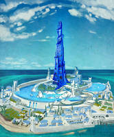 Blue Tower by Asztat