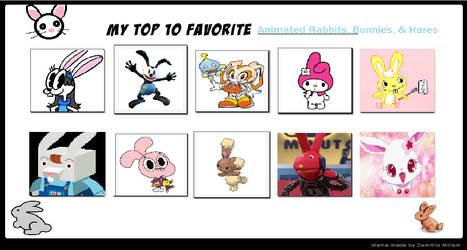 My Top 10 Favorite Rabbits and bunnies by suckaysuAmigos200