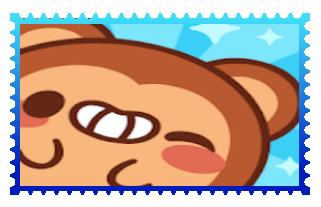 Monkey Roll stamp by suckaysuAmigos200