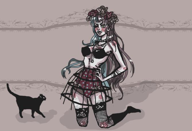 black cat by Mii-Panda
