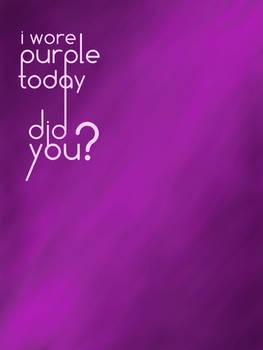 I wore purple