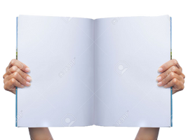 Hand holding magazine PNG by voidxprescott
