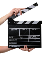 Hands holding clapperboard PNG by voidxprescott