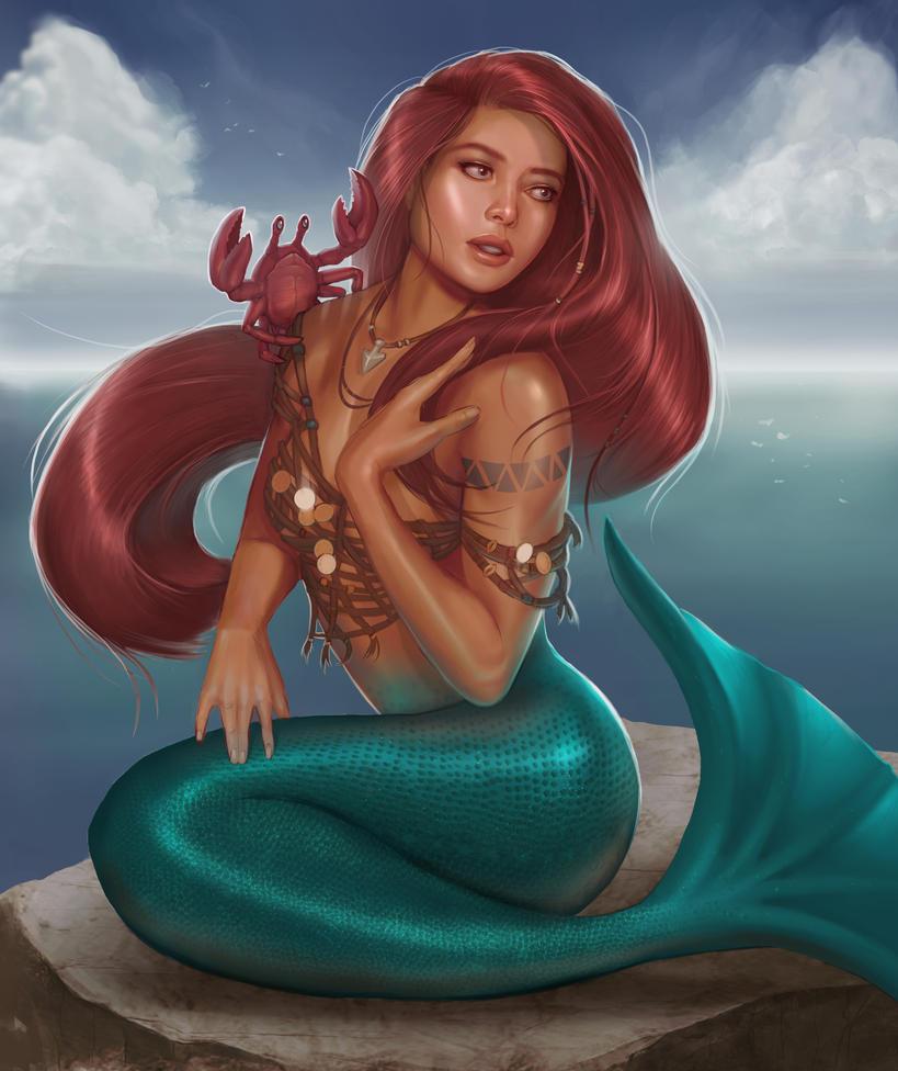 Mermaid and Friend by jrbarker