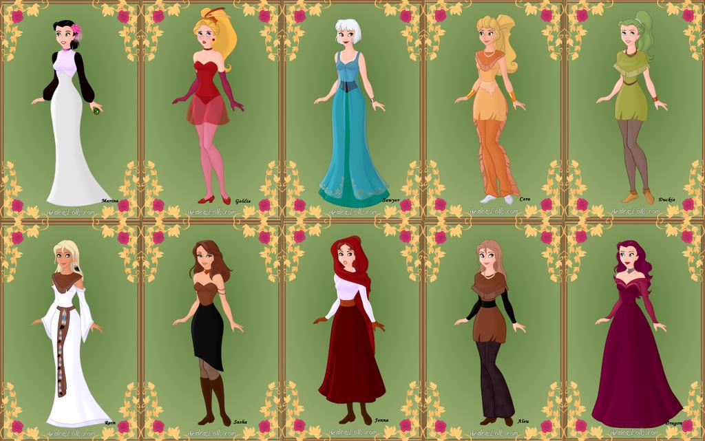 Non-Disney Animal Women Humanized 1 by Piggie50