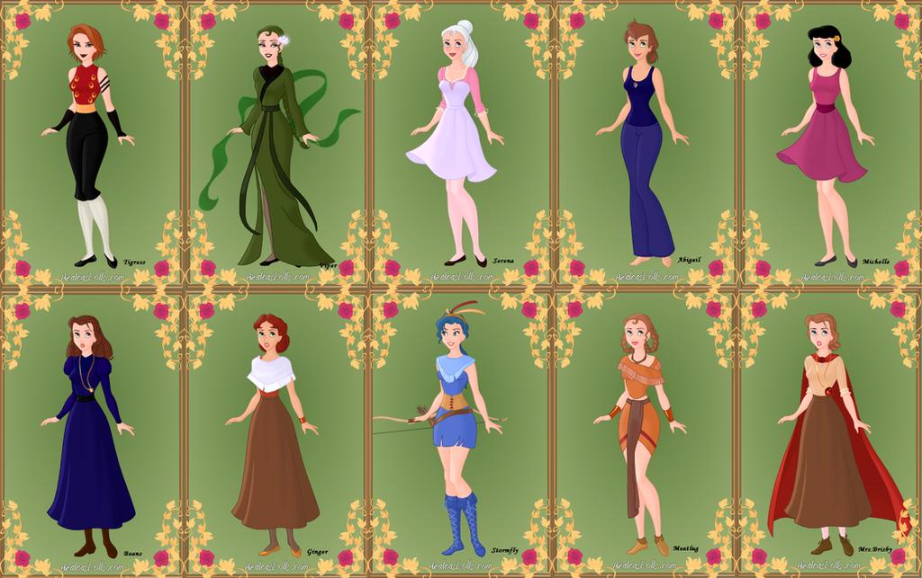 Non-Disney Animal Women Humanized 2 by Piggie50