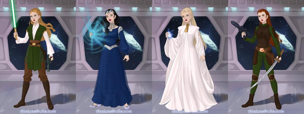 Star Wars LOTR and Hobbit Women by Piggie50