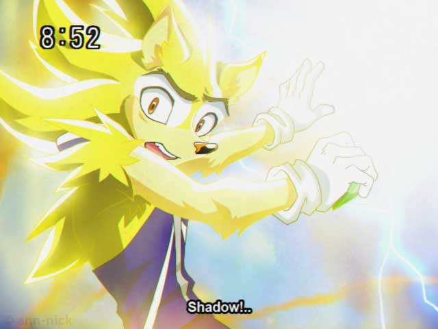 Sonic X  Anthro Super Sonic by AnnNick on DeviantArt
