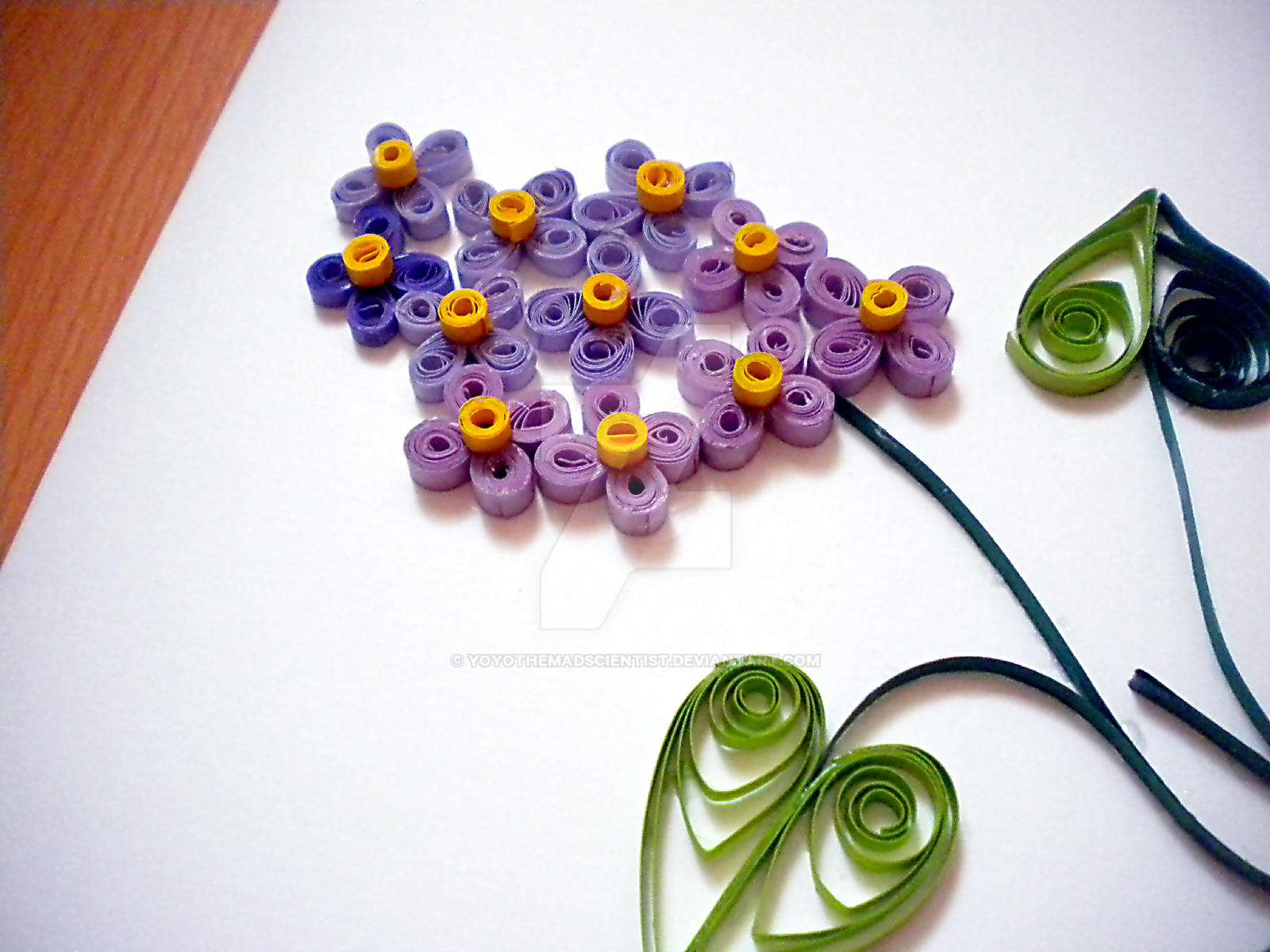 Quilled Lilac Card Close-Up by YoyoTheMadScientist