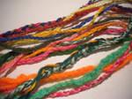 Friendship bracelets close-up