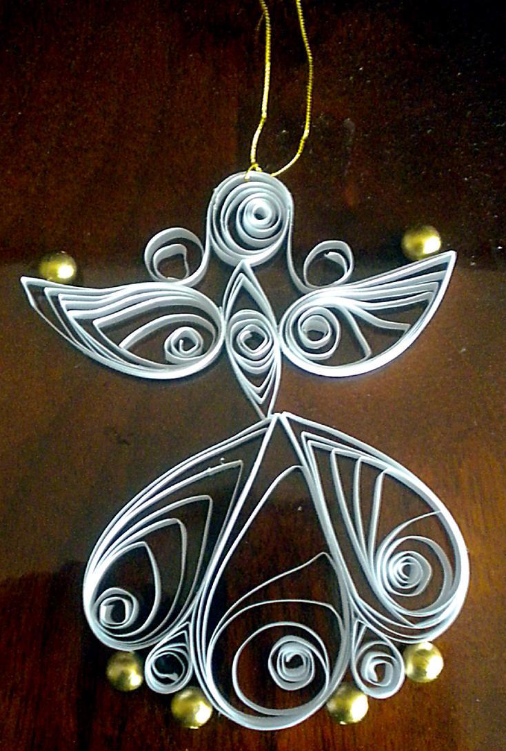 Quilled angel II by YoyoTheMadScientist