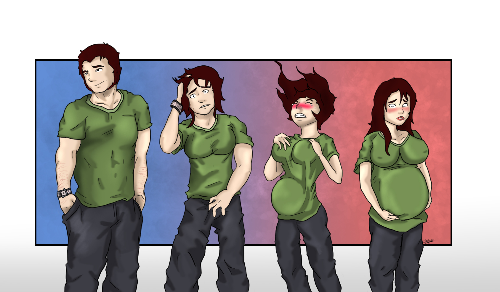 Boy To Girl Transformation Comic - Kahoonica