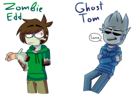 Zombie Edd and Ghost Tom by JeyTheWerefox