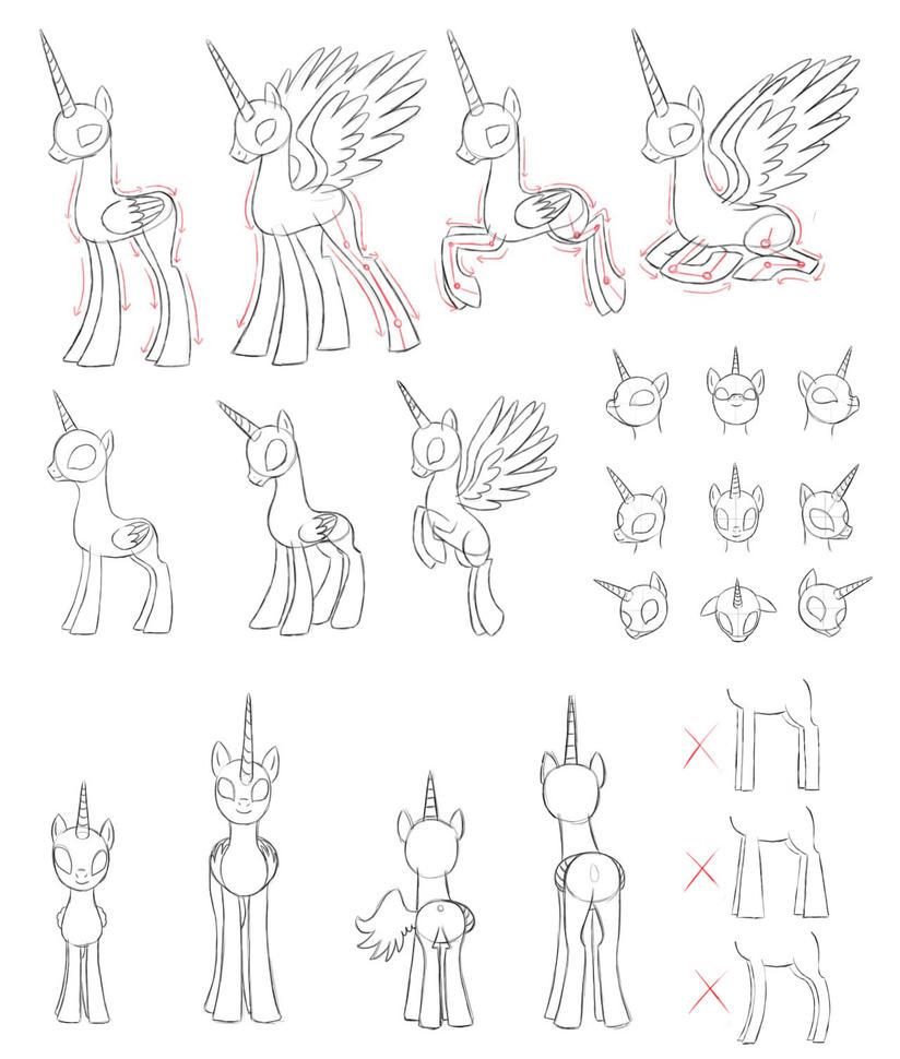 MLPdraw Alicorn By Pennygu On DeviantArt
