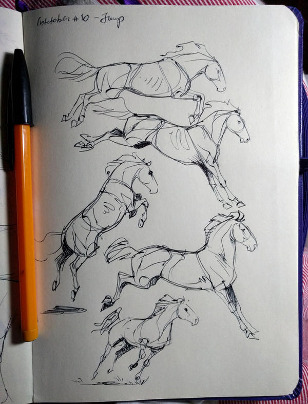 Inktober#10 Jump by Mesteno