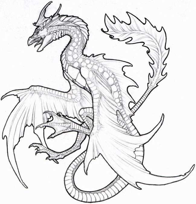 sea dragon coloring pages cooloring