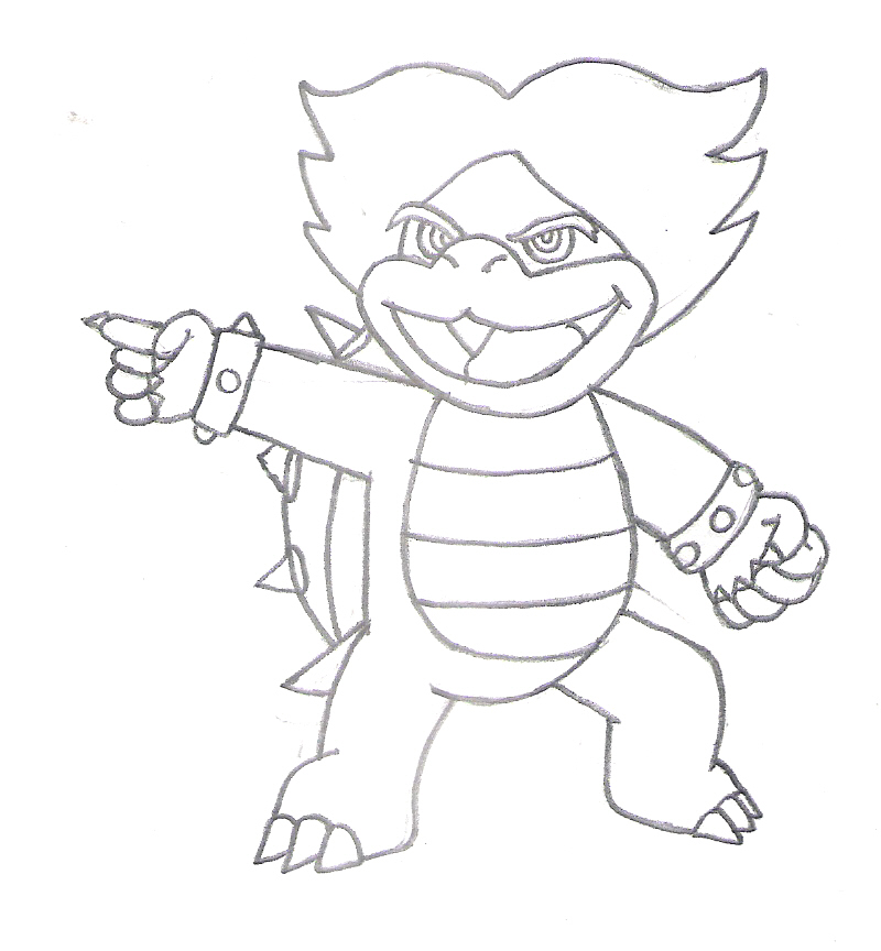 super mario ludwig coloring pages - photo#2