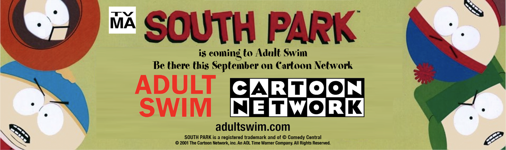 South Park on Adult Swim banner (fanmade)