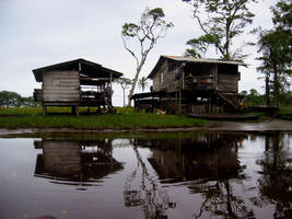 Houses by the water. Panama