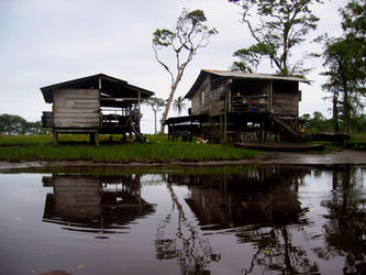 Houses by the water. Panama by UltraDuck
