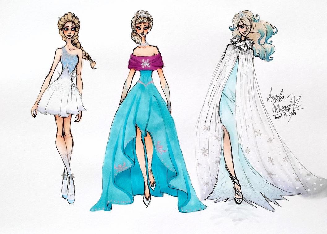 Frozen Inspired Fashion By Angelaaasketches On Deviantart