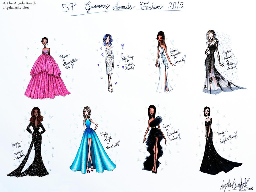 Mini Grammys Fashion Sketches By Angelaaasketches On Deviantart