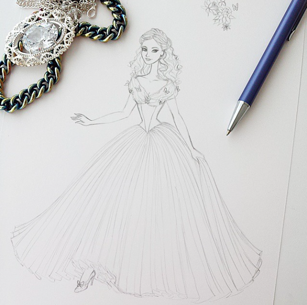Cinderella Sketch By Angelaaasketches On Deviantart