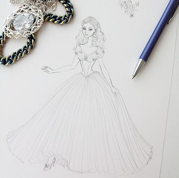Cinderella Sketch By Angelaaasketches On Deviantart